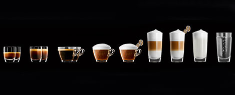Szeroki zakres specjałów kawowych w ekspresie Jura A9
