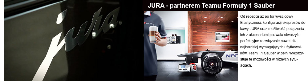 Jura partnerem Teamu fomuły 1 Sauber