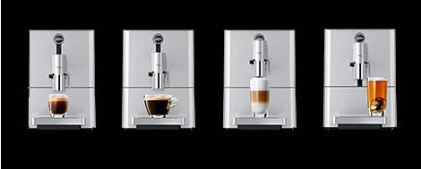 Podwójna wylewka kawy o regulowanej wysokości