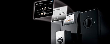 Szeroki wybór specjałów kawowych w ekspresie Jura F9
