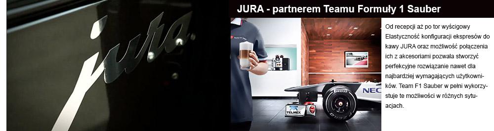 Firma JURA partenrem formuły 1 sauber